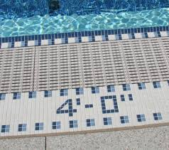 6x6 White Pool Tile by Swimming Pool Tile Depth Markers Thesouvlakihouse Com
