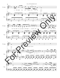 Make It A Wonderful Life by It U0027s A Wonderful Life Vocal Solo By J W Pepper Sheet