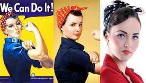 Rosie The Riveter Halloween Tutorial by Rosie The Riveter Costume Hair Tutorial Foto U0026