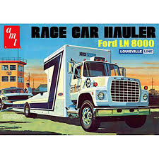 Race Car Hauler Ford LN8000 AMT 758 1/25 Truck Plastic Model Kit ...