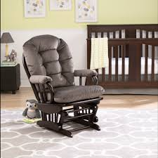 Best Chairs Storytime Series Sona by Best Chairs Geneva Wood Glider Caviar Velvet Espresso Babies