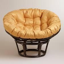 Amber Gold Micro Suede Papasan Chair Cushion