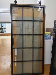 abverkauf loft 01 schiebetür aus stahl glas