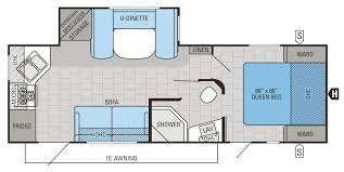 Travel Trailer Floor Plans With Bunk Beds by 2015 Jay Flight Floorplans U0026 Prices Jayco Inc