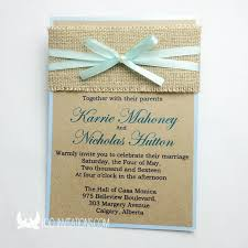 Rustic And Elegant Beach Wedding Invitations With Sackcloth Belly Band Pearl Decoration