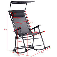 100 Rocking Chair Exercise Shop Costway Folding Rocker Porch Zero Gravity