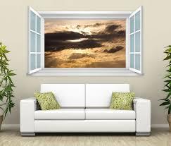 3d wandtattoo fenster himmel dunkel sonne wand aufkleber wanddurchbruch wandbild wohnzimmer 11bd2173 wandtattoos und leinwandbilder günstig