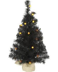 Vickerman 2 Black Artificial Christmas Tree With 25 LED Orange Lights B138025