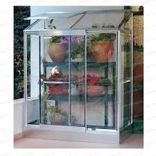 mini serre polycarbonate à adosser 0 98m2 serre jardin