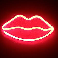 Neon Light LED Moon Sign Shaped Decor Light Wall Decor for