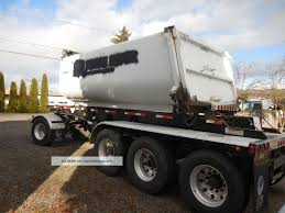 100 Transfer Dump Truck 2006 Columbia Trailer Box Some Damage 4 Axel