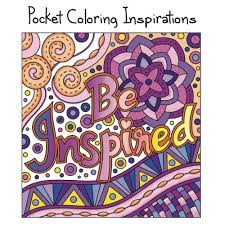 Pocket Coloring Inspirations Travel Size Motivational Book For Adults Mini Books