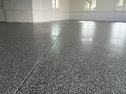 Vinyl Chip Garage Floor In Charlottesville VA Epoxy Decorativeconcrete Garagefloor
