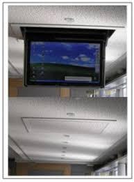 flatlift slimline ceiling tv lift for tv s works via