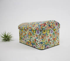 Daher Decorated Ware Tin Tray by Vintage Flower Tea Tin Daher Floral Tin Metal Box Company Made