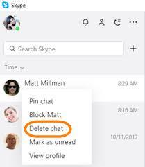 skype pour bureau comment supprimer une conversation dans la nouvelle application