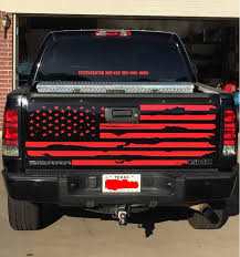 100 Truck Tailgate Decals GMC Chevy Distressed American Flag Decal