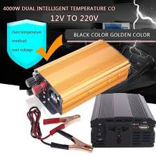 100 Truck Power Inverter DC12V To AC220V 4000W Portable Premium Converter Car Car