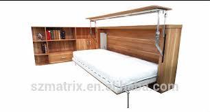 bureau pliable horizontal lit escamotable murphy bed avec ordinateur de bureau