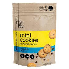 HighKey Snacks Keto Mini Low Carb Cookies – Chocolate Chip, Pack Of 3,  2.25oz Bags – Keto Friendly, Gluten Free, Healthy Snack - Sweet, Diet  Friendly ...