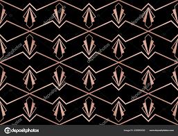 100 Art Deco Shape Seamless Pattern Geometric S Rose Golden Texture Black