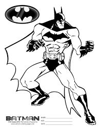 Free Batman Coloring Pages For Kids Black White