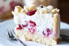 rezept quark sahne torte mit löffelbiskuit und himbeeren