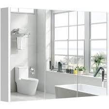 costway spiegelschrank badezimmer badezimmerspiegel mit verstellbaren ablagen badezimmerspiegelschrank weiss wandschrank mit spiegel haengeschrank