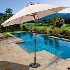 9 Ft Patio Market Umbrella by Galtech 9 Ft Octagonal Hardwood Patio Market Umbrella W Crank
