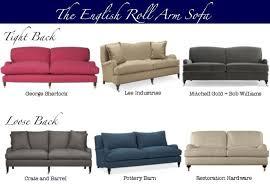 English Roll Arm Sofa Slipcover