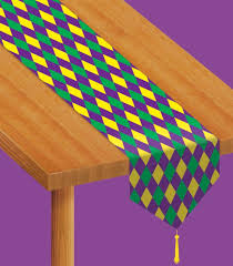 Mardi Gras Wooden Door Decorations by Amazon Com Printed Mardi Gras Table Runner Party Accessory 1