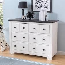 6 Drawer Dresser Black by Delta Children Providence Changing Table Topper White Babies