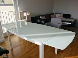 esstisch glastisch ausziehbar terry höffner 140 200 x 90 cm