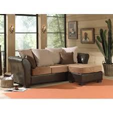divan canapé canapé avec pouf bicolore beige achat vente canapé sofa