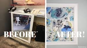 Framed Fabric Wall Art Using A Picture Frame DIY