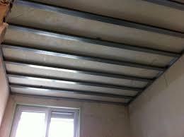 pose rail placo plafond types de rails et montants pour plafond autoporteur placo