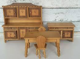 puppenstube möbel groß esszimmer 5 teile tisch stühle