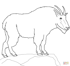 Click The Mountain Goat Coloring Pages