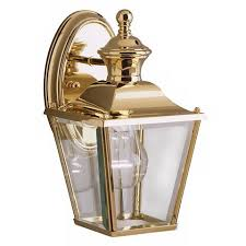 kichler solid brass carriage 10 high outdoor wall light 62090