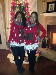 Diy Christmas Story Leg Lamp Sweater by Ugly Christmas Sweater For Couples Or Best Friends Diy Using Felt