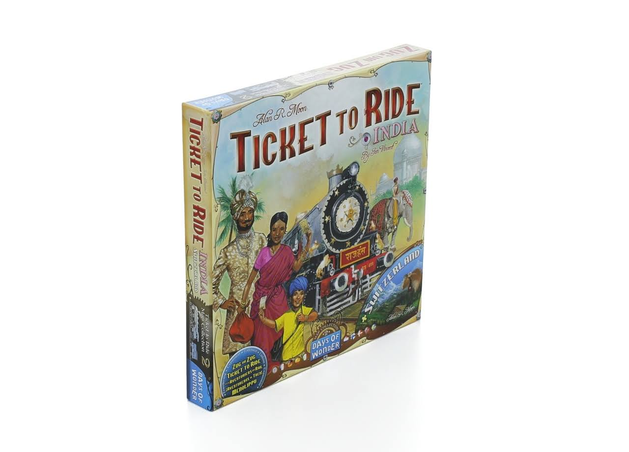 Days of Wonder Ticket to Ride India & Switzerland Map Collection