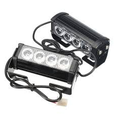 Pair 12V 4-LED Strobe Flash Flashing Hazard Grille Beacons Light ... 8 Led Amber Strobe Light Car Yellow Dash Emergency 3 Flashing Modes Led Magnetic Warning Beacon Design Wonderful Blue Lights Used Fire Brand New 2 Pcs Of Pack 6 1224v Super Bright High Low Profile Vehicle Mini Head Single Or Dual Staleca 4x Ultra Truck 12 Led 19 Flash Ford Offers 700 Msrp Factory On Every 2016 Fseries Watch For Trucks With Interior Soundoff Signal F150 Four Corner Kit 1517 88 88w Car Truck Beacon Work Light Bar Emergency Strobe Lights Amazoncom Yehard For Cars 12v Universal 12v 24 Power Long Bar Red White Flash Lamp