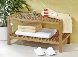 sitzbank badezimmer holz