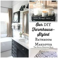 Our DIY Farmhouse Styled Master Bathroom Renovation