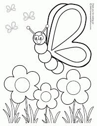 Butterfly Garden Coloring Pages Free Printable