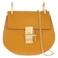 chloé drew brown mini grained nappa leather bag