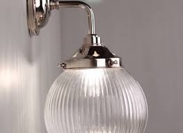 ribbed glass globe bathroom wall light goodrich deco lighting