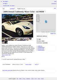 This 2009 Ferrari California Asks $119,000, Is On Craigslist Craigslist Las Vegas Cars By Owner 1920 New Car Specs Used For Sale Near Me Fresh Craigslist Los Angeles Cars Amp Trucks Owner Search Oukasinfo Zane Invesgations Full Service Nevada And North Eastern And Trucks On Best 2018 Vegas Play Poker Online Carssiteweborg Truck By News Of 2019 20 Phoenix