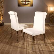 Luxury Set Of 2 Modern Cream Faux Leather Dining Chairs Stainless Leg Cream Faux Leather Ding Chair With Curved Leg Crossley Single Adela Maple And Lpd Padstow Chairs Pair Brown Or Red Faux Leather Ding Chairs Antique Vintage Button Stud Detail Pack Of 2 Table Seat Set Bolero Tan Mark Harris California Simpli Home Cosmopolitan 9piece 8