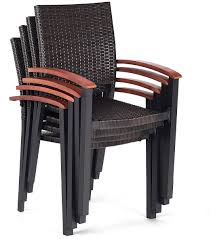 Details About Patio Rattan Armchair Set 4 Pc Dining Chairs Stackable Wicker  Outdoor Furniture Modern Edge Inoutdoor Stacking Ding Chair White Outdoor Interiors Danish Stackable Eucalyptus 4pack Aventura Commercial Grade Hot Item Set Hotel Project Wicker Rattan Patio Table Magic Style Pemberton 5piece Commercialgrade With 4 Chairs And A 38 Muut Black Grey Of Hampton Bay Mix Match Brown Luciano Armchair Shop Garden Tasures Steel Mid Telescope Casual Avant Mgp Alinum Armless Aldergrove Robert Alinium Cafe